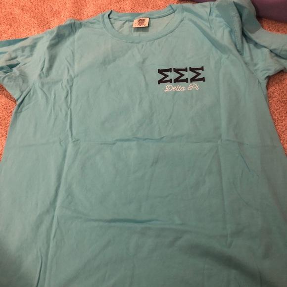 Comfort Colors Tops - Tri sigma blue comfort colors tank top